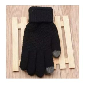 Accessories - Black and Grey Women's Touch Screen Gloves